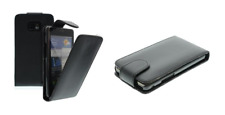 Cover Custodia Lusso (Pelle Eco Nero) ~ Sony Ericsson Satio / idou (U1 / U1i)