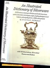 3 lb AN ILLUSTRATED DICTIONARY of SILVERWARE Harold Newman SILVER ANTIQUES HCDJ