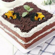 6 Pcs Digger Tractor Baby Toys Shower Birthday Cake Party Toppers H5B9