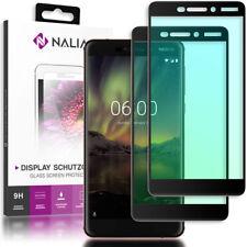 NALIA 2x Schutz Glas für Nokia 6.1 (2018), Tempered Glass Display Panzer Folie