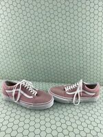 VANS Old Skool Pink Canvas/Suede Lace Up Low Top Shoes Men's Size 7  Women's 8.5