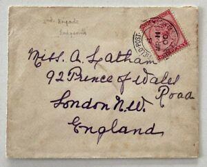 1900 Boer War Field Post Office1p 2nd Brigade Ladysmith to London England