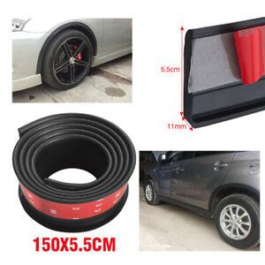 2PCS Universal Car Wheel Fender Extension Rubber Moulding Flare Trim Protector