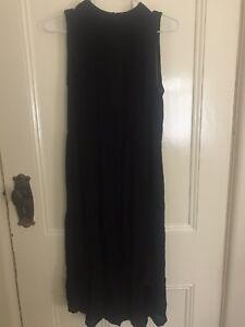 Lily Loves black midi hi-low dress size 6
