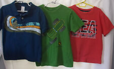 Boys size 5, (3) short sleeve, jersies; gymboree, John Deere,