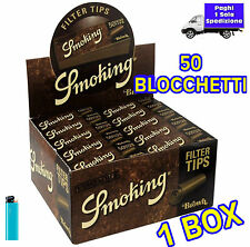 Filtri di carta SMOKING Brown in carta Filtro naturale  non TRATTATA  1 box