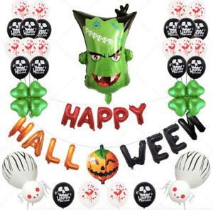 Happy Halloween Foil balloons Set Franklin Skull, Pumpkin Spider Baloon Hallowen