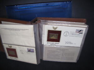Golden Replicas US FDC'S In Binder 1980's 45 Covers Total