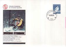 Schweden Nr.  1165  Sonderbrief für Ingemar Stenmark  der Schweizer Sporthilfe