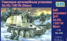 SD.KFZ 138/1M BIZON SELF-PROPELLED GUN  (GERMAN WEHRMACHT MKGS) 1/72 UNIMODELS