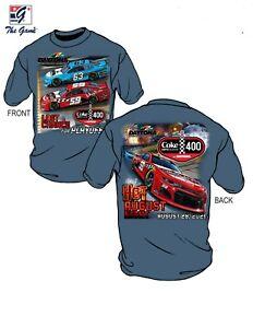 Daytona 2021 COKE ZERO SUGAR 400 T-Shirt Slate Blue 2X-Large
