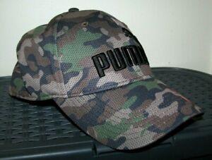 """Men's PUMA """"CAMO"""" Baseball Cap/ Hat (STRETCH FIT) S/M"""