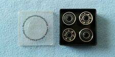 New Element Thriftwood Skateboard Bearings Black + Silver Set Of 8
