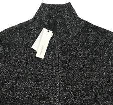 Men's CALVIN KLEIN Black White Cotton + Full Zip Sweater XXL 2XL NWT NEW AmAzInG