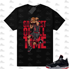 New listing 4 Bred GOAT tee Great of all time T-Shirt, Sneaker Match Unisex Tee