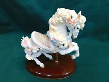LENOX RARE VINTAGE 1987 CAROUSEL HORSE PORCELAIN WOODEN STAND