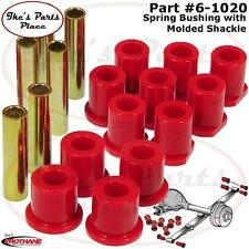 Prothane 6-1020 Rear Spring Eye& Molded Shackle Bushing Kit 80-97 Ford F250/350