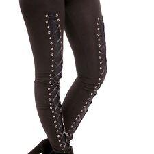 Heartless Arch Legging Corset Full Length Black Ladies Goth Emo Punk