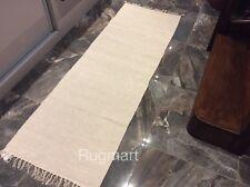 ECO Friendly NATURAL Plain CREAM Handmade Cotton Washable Runner 70x200cm 40%OFF