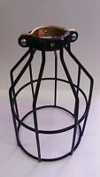VINTAGE INDUSTRIAL STEAMPUNK BLACK BULB GUARD CLAMP ON LAMP CAGE  A.K.A.CLAMPY