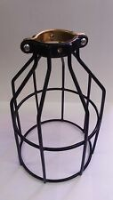 BLACK BULB GUARD CLAMP ON LAMP CAGE VINTAGE INDUSTRIAL STEAMPUNK A.K.A.CLAMPY