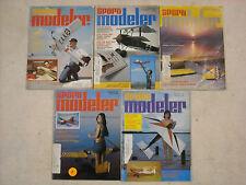 Lot of 5 vintage 1974-75 Sport Modeler magazines