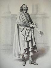 SIÈCLE DE LOUIS XIV / GRAVURE 1840 / PIERRE CORNEILLE