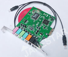 PCI express x1 pcie 7.1ch 8channels SPDIF VIA chipset Audio Digital Sound Card