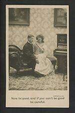 Comic Vintage postcard love couple joke piano Bamforth