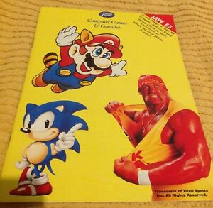 Vintage 90s Computer Games & Consoles Guide from Boots w/ Hulk Hogan