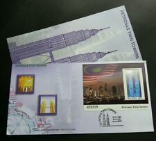 Petronas Twin Towers Malaysia 1999 Tourist KLCC Flag FDC *Hologram *see descrip