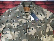 LEVIS Premium Big E Red Tab Cheetah Print Denim Jacket Rare Cotton Men's Large