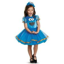 Girl DELUXE COOKIE MONSTER Costume Sesame Street Blue Tutu Dress Child Small 4 6