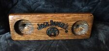 Jack Daniels Wooden Barrel Stave Shot Glass Holder Oak Awesome Bar Piece