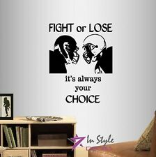Vinyl Decal Fight or Lose Quote Football Player Boys Sports Wall Sticker 495