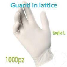 1000 GUANTI IN LATTICE Taglia L - MONOUSO BIANCHI POCO TALCO