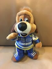 """Aarons Lucky Puppy Dog 10"""" Stuffed Animal Plush Toy Blue Racing Suit"""
