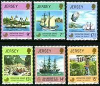 JERSEY 1980 DRAKE & GEOGRAPHICAL SOCIETY SET OF ALL 6 COMMEMORATIVE STAMPS MNH