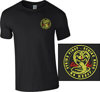 Cobra Kai Embroidered T Shirt Karate Kid Movie Kung Fu Martial Arts Kids Unisex