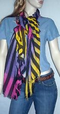 Beautiful Large Multi Colored Soft Fringed Scarf/Wrap Striped