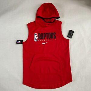 NWT Mens Nike NBA Toronto Raptors Team Player Issue Sleeveless Hoodie Sweatshirt