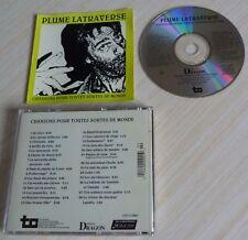CD ALBUM CHANSONS POUR TOUTES SORTES DE MONDE PLUME LATRAVERSE 28 TITRES 1990