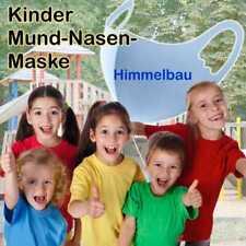 Kinder Kids 3D Mundschutz Schutzmaske Atemschutz Waschbar Himmel-Blau Skyblue