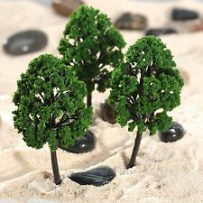 20pcs Green Model Trees 1:100-300 HO N Z Scale Garden Wargame Scenery Diorama