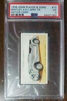 1936 Bentley 3.5 Liter Sport - John Player card #10 - PSA 3.  Vintage rare card.