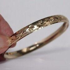 14k Gold plated bangle bracelet 2.5 inch size medium