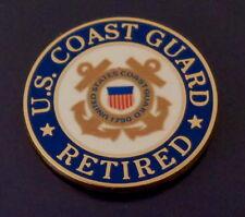 U. S. Coast Guard Retired logo Lapel Pin Uscg crossed anchors United States