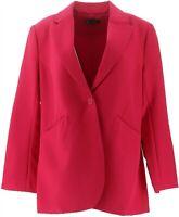 DG2 Diane Gilman Wrinkle-Resistant Gabardine Blazer MAGENTA XL NEW 648-275