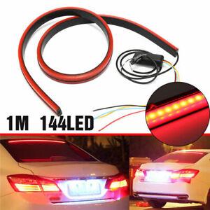 Red LED Car High Mount Rear Third Brake Stop Rear Tail Light Bar Strip Universal