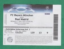 Orig.Ticket  Champions League  2006/07  BAYERN MÜNCHEN - REAL MADRID  1/8 FINALE